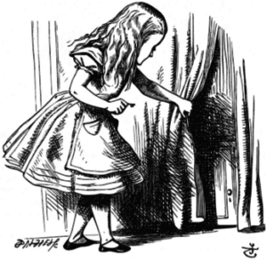 Alice Finds the Door to Wonderland - Donald Steiny Site