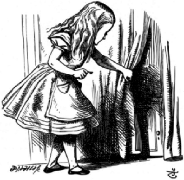 Alice Finds the Door to Wonderland